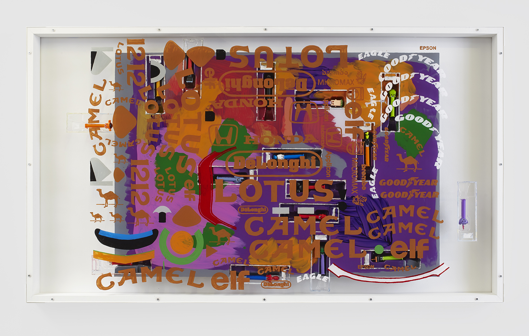 SEAN KENNEDY MIXED MESSAGES THOMAS DUNCAN GALLERY LOTUS / CAMEL PAINTING