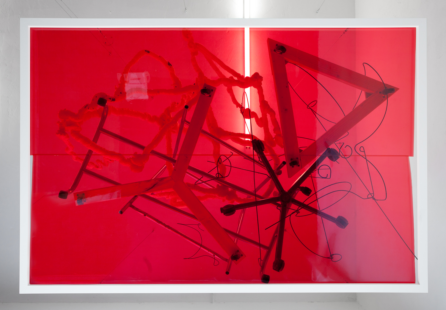 SEAN KENNEDY THOMAS DUNCAN GALLERY 2012 RED FILM PIECE